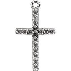 Petite Cross Dangle Mounting