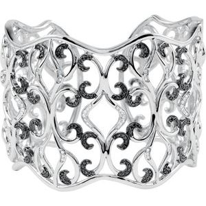 Sterling Silver 1 1/3 CTW Diamond Cuff Bracelet