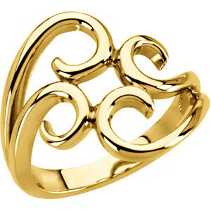 14K Yellow Fashion Ring