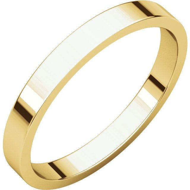 10K Yellow 2.5 mm Flat Band Size 13