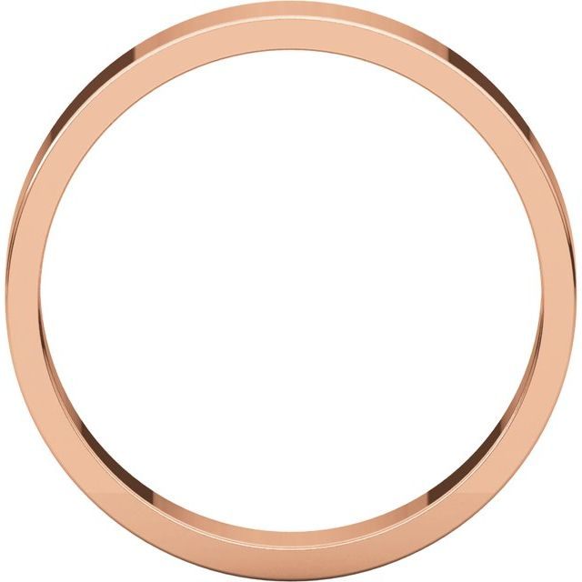 14K Rose 4 mm Flat Band Size 9