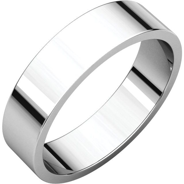 Sterling Silver 5 mm Flat Band Size 7.5
