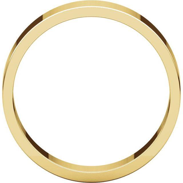18K Yellow 5 mm Flat Band Size 10