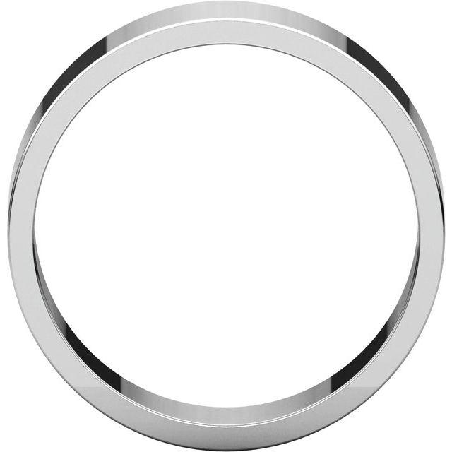 10K White 6 mm Flat Band Size 12.5
