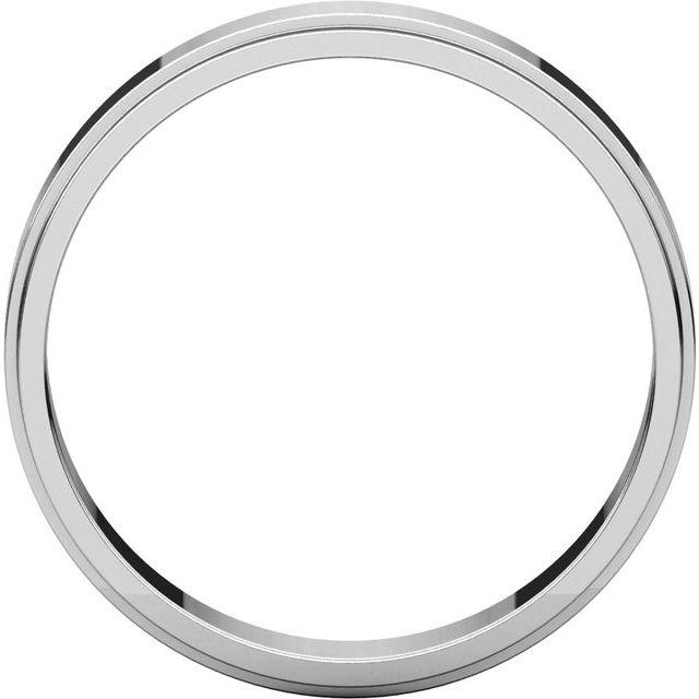 14K White 4 mm Flat Edge Band Size 9
