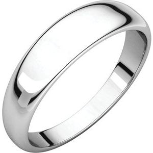 Sterling Silver 5 mm Half Round Tapered Band Size 11