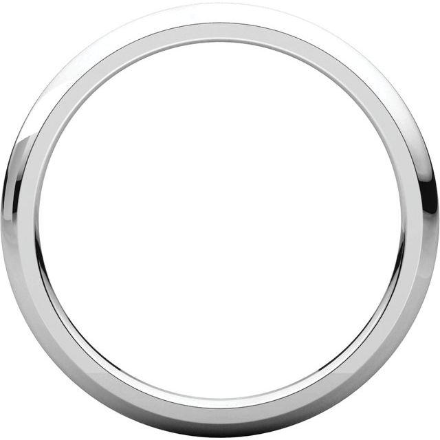 Platinum 2 mm Half Round Comfort Fit Band Size 5