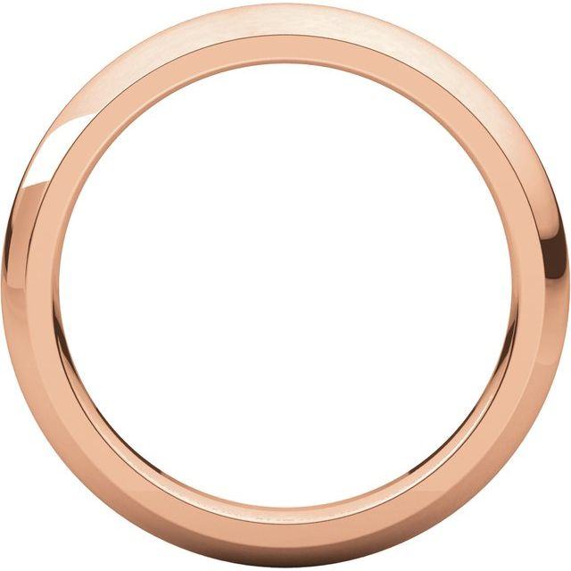 14K Rose 3 mm Half Round Comfort Fit Band Size 5.5