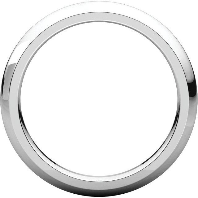 Platinum 3 mm Half Round Comfort Fit Band Size 8