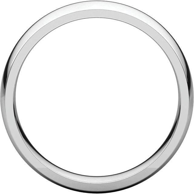 14K White 5 mm Half Round Comfort Fit Light Band Size 6.5