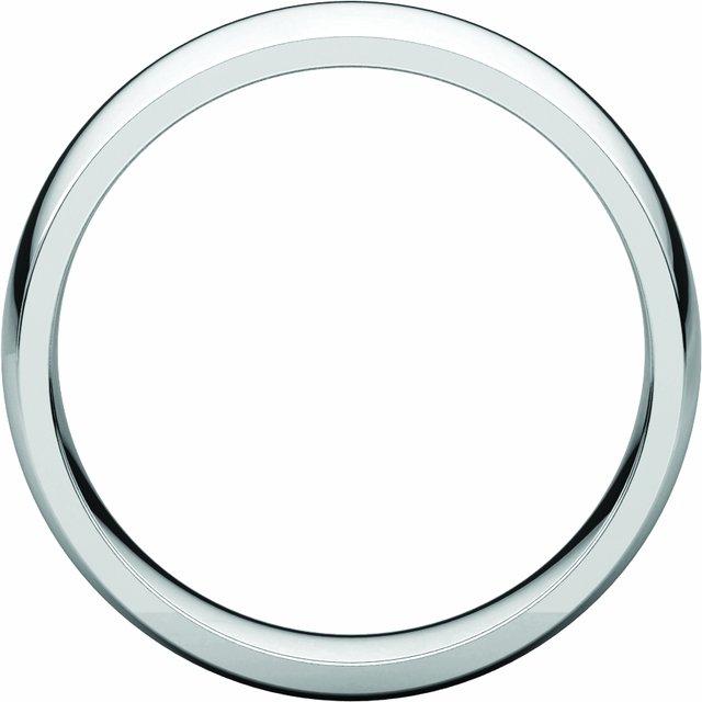 14K White 6 mm Half Round Comfort Fit Light Band Size 14