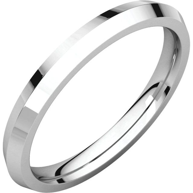 Sterling Silver 3 mm Knife Edge Comfort Fit Band Size 13.5