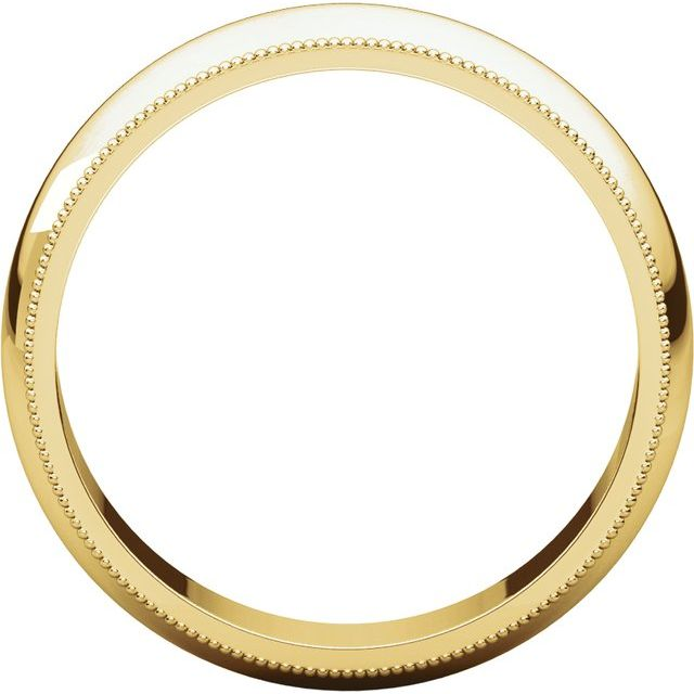 14K Yellow 5 mm Milgrain Half Round Band Size 7