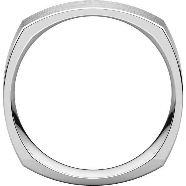 Sterling Silver 6 mm Square Comfort Fit Band Size 7