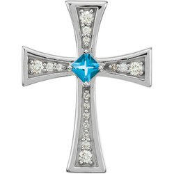 Ornate Cross Pendant Mounting