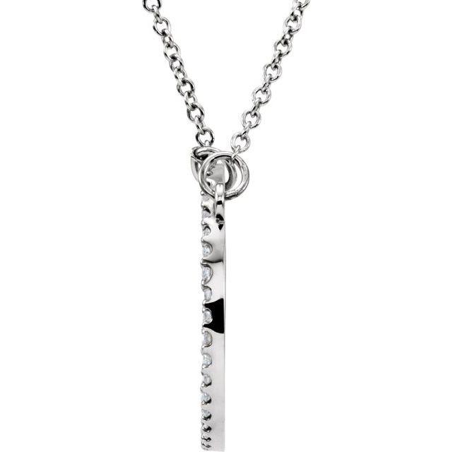 14K White 1/6 CTW Diamond 16