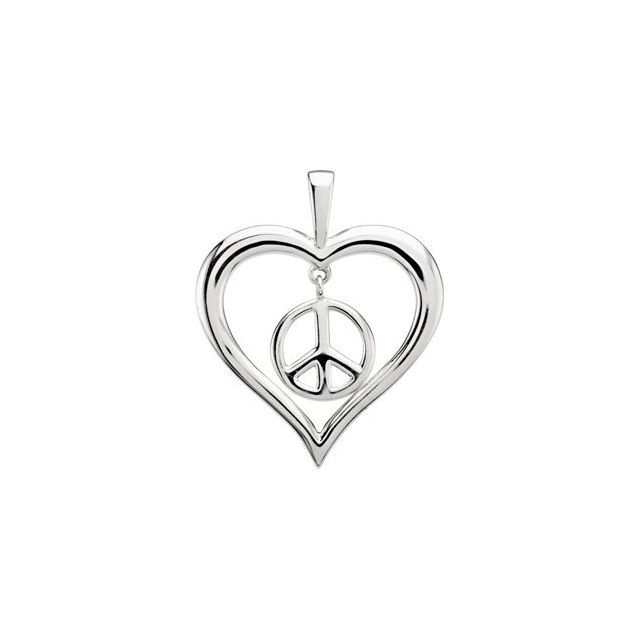 Heart Peace Sign Pendant