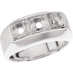 Pánsky prsteň na 3 kamene - neosadený