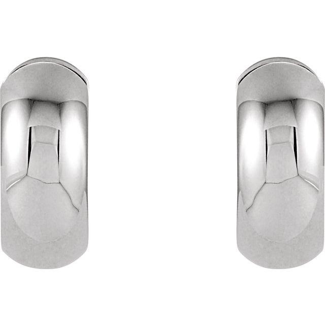 Sterling Silver 16.75 mm Hinged Earrings