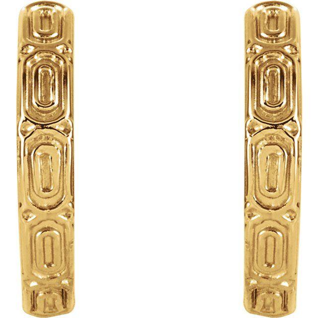 14K Yellow Hinged Hoop Earrings