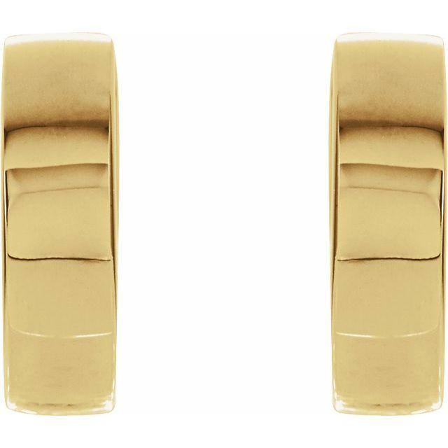 14K Yellow 14.5 mm Hinged Earrings