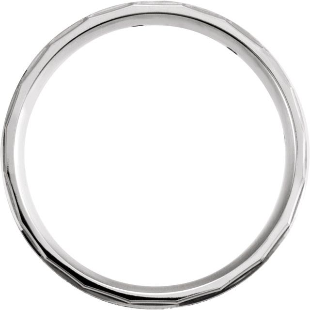 14K White 1/6 CTW Diamond Design Edge Band Size 7