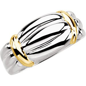 14K White & Yellow Band