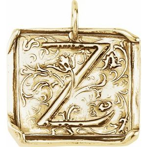"""14K Yellow Initial """"Z"""" Vintage-Inspired Pendant"""