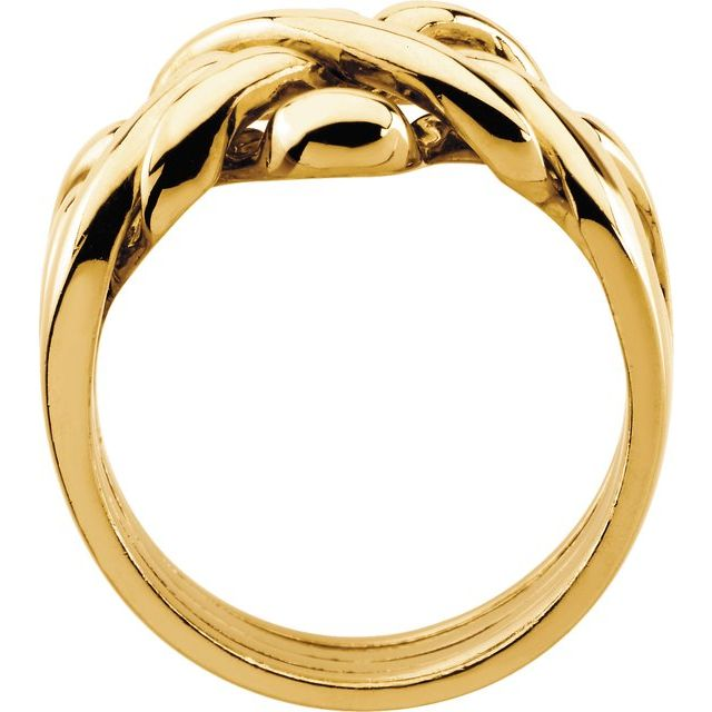 14K Yellow 12.5 mm Puzzle Ring