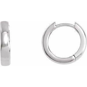 Stainless Steel Polished 19.5mm Round Endless Hinged Hoop Earrings