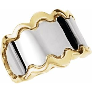 14K White/Yellow Freeform Ring
