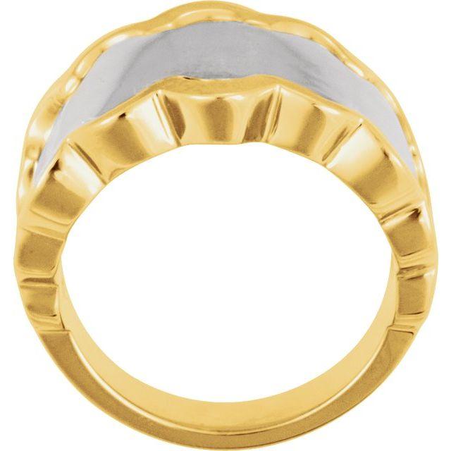 14K White/Yellow Freeform Ring
