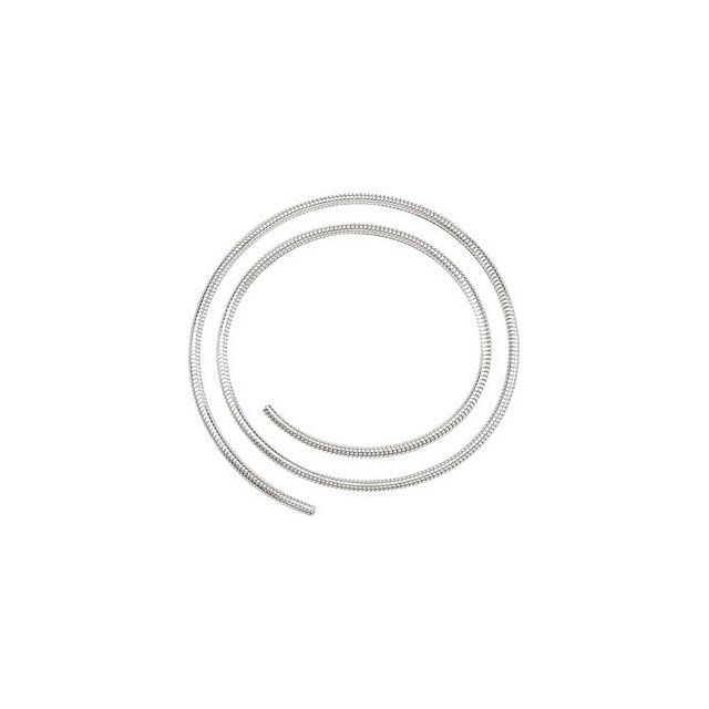 Sterling Silver 2.5 mm Round Snake Chain by the Inch