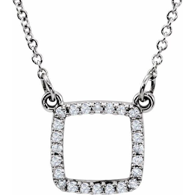 14K White 1/10 CTW Diamond 16