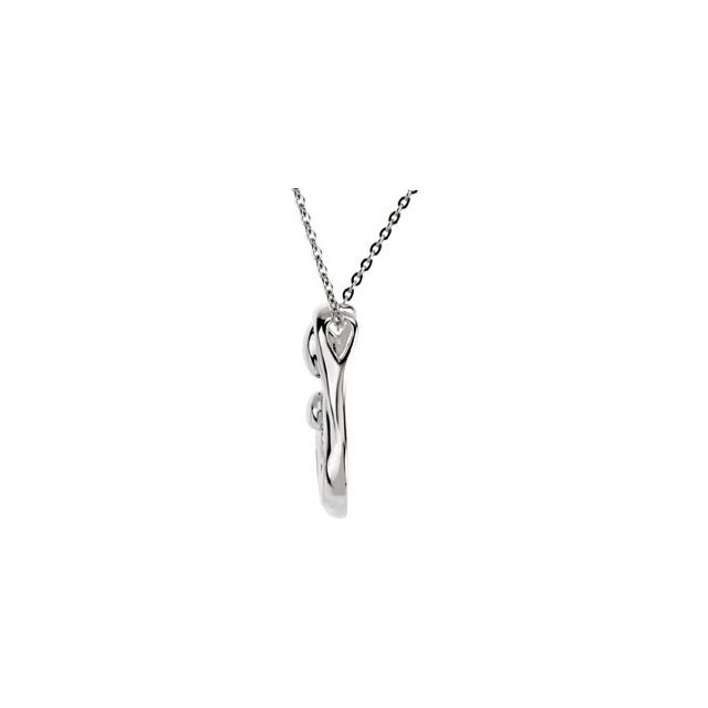 Sterling Silver 1 Child Mother-s Embrace 18