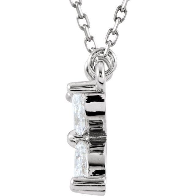 14K White 1/2 CTW Diamond Floral-Inspired 16