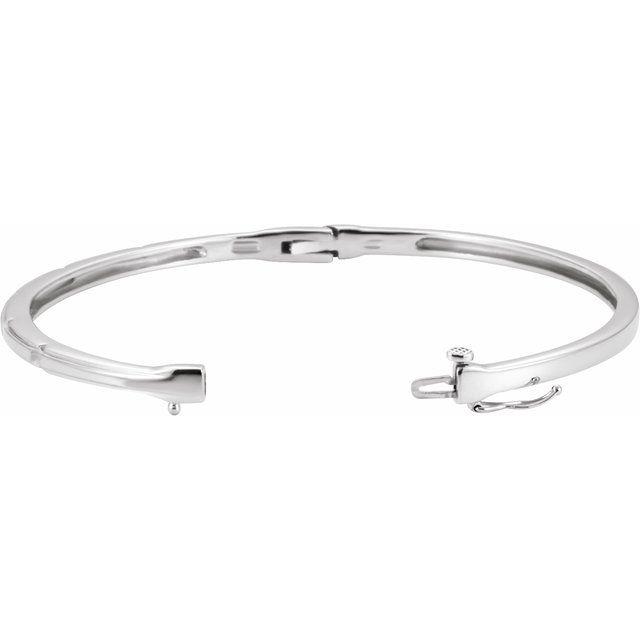 14K White 1/4 CTW Diamond Bangle Bracelet