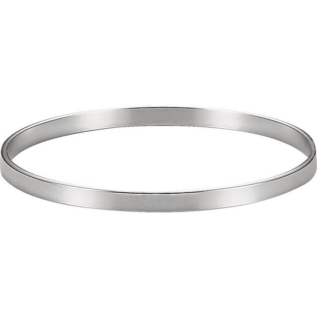 Sterling Silver 4.8 mm Bangle 8
