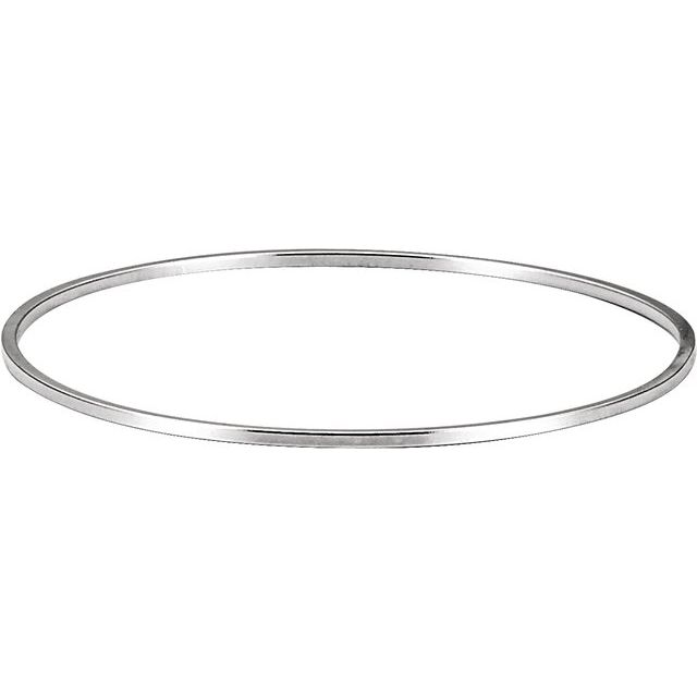 Sterling Silver 4.8 mm Bangle 7 1/2