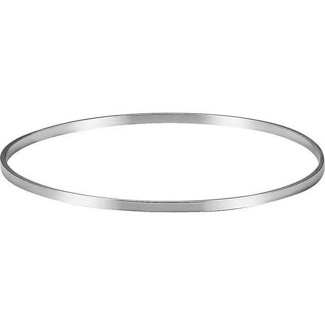 Sterling Silver 2.3 mm Bangle 7 3/4