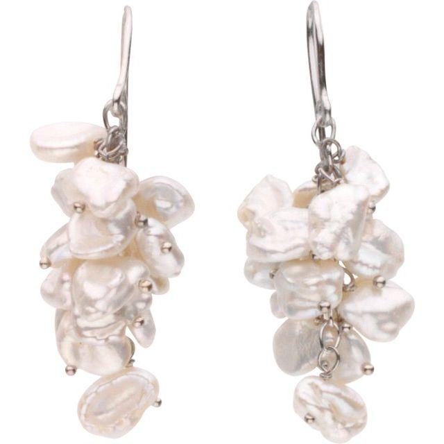 Freshwater Cultured Keshi Pearl Earrings