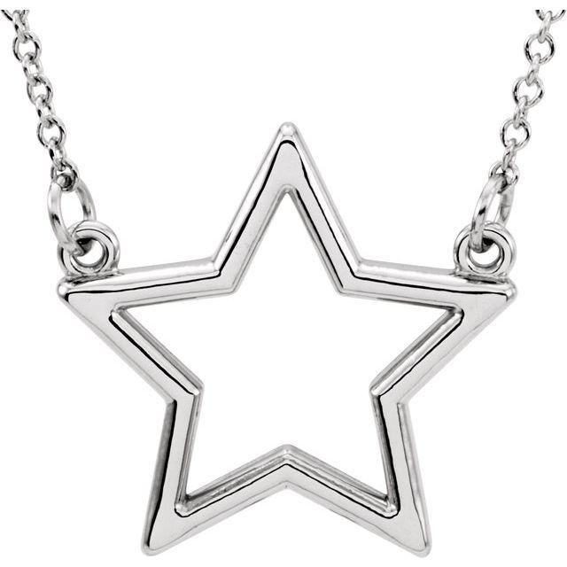 14K White Star 16