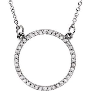 "14K White 1/6 CTW Diamond 16"" Necklace"