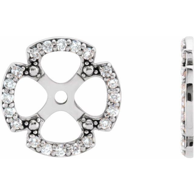 14K White 1/5 CTW Diamond Earring Jackets