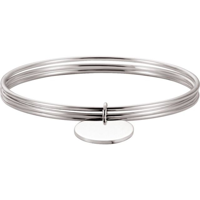 Sterling Silver 26 mm Triple Bangle 8