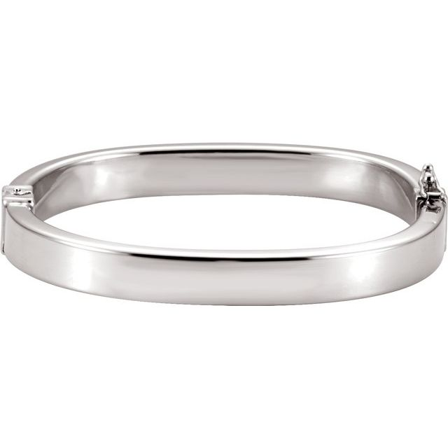 Sterling Silver 8 mm Hinged Bangle 6 1/2