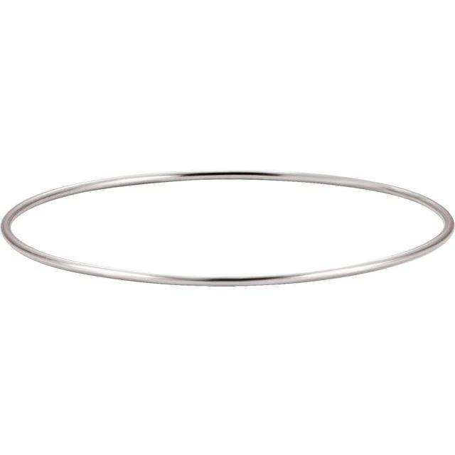 Sterling Silver 1.5 mm Bangle Bracelet