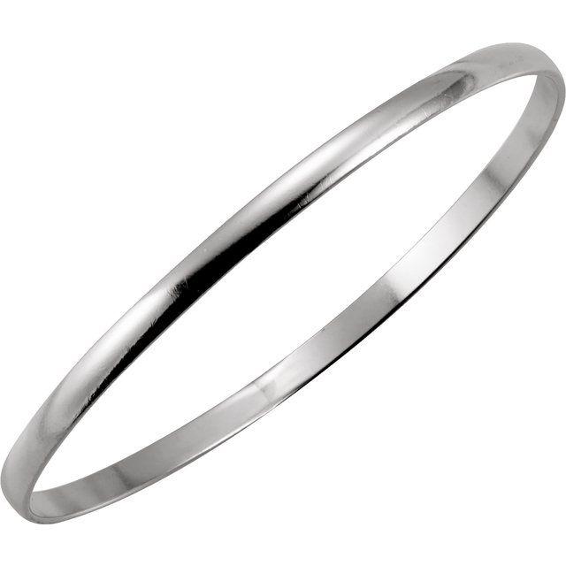 Sterling Silver 4 mm Bangle Bracelet