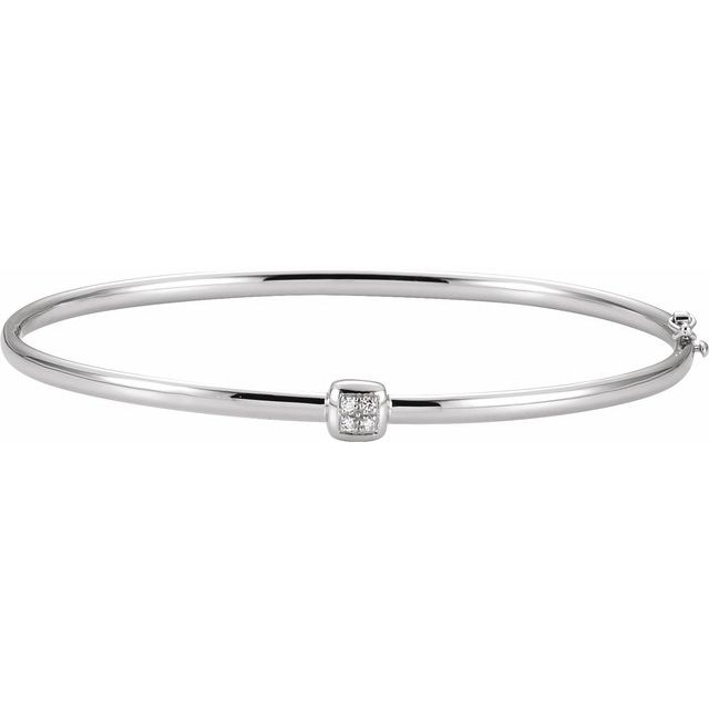 Diamond Hinged Bangle Bracelet