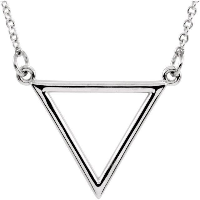 14K White Triangle 16